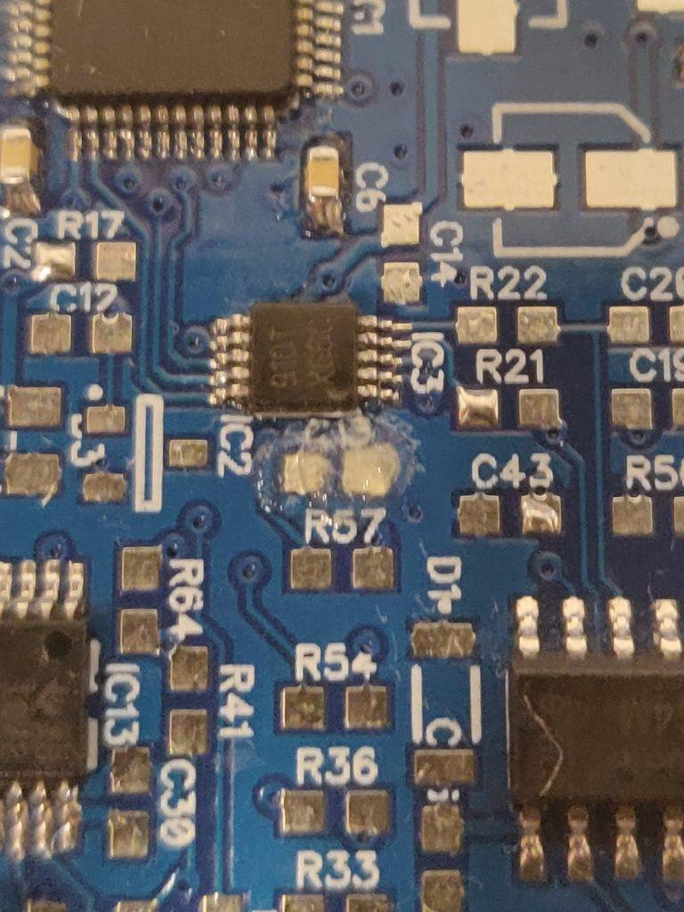Flux on PCB
