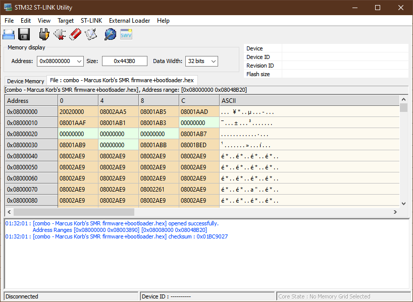 Flashing interface for 4MS SMR