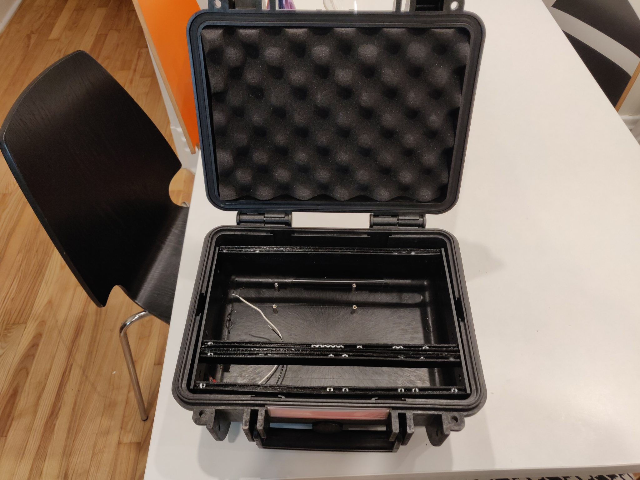 Lunchbox with rails
