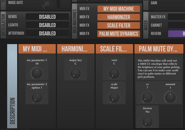MIDI Machines Selection