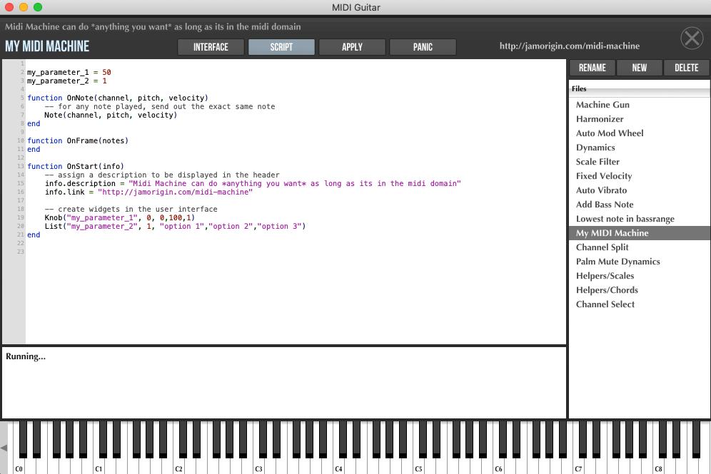 MIDI Machine Editing Window