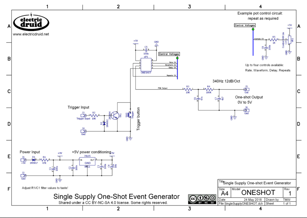 One Shot Event Generator Schematic